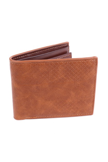 Mens Bi-fold Leather Cognac Wallet - orangeshine.com