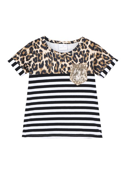 Stripe leopard shirt for women - orangeshine.com