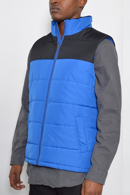 Padded Outerwear Sleeveless Vest - orangeshine.com