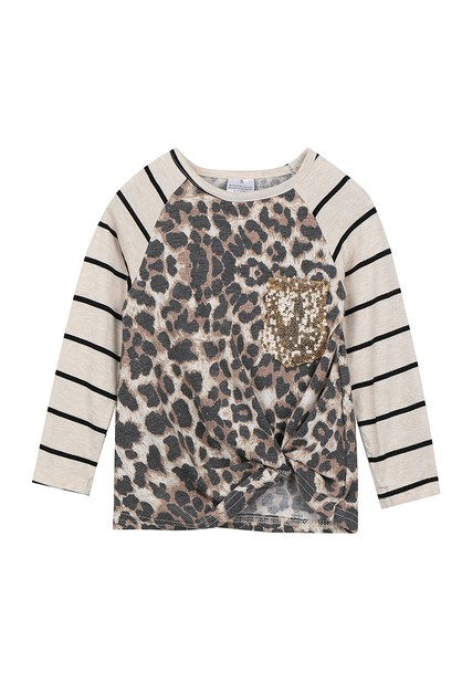 Stripe leopard mommy and me shirt - orangeshine.com
