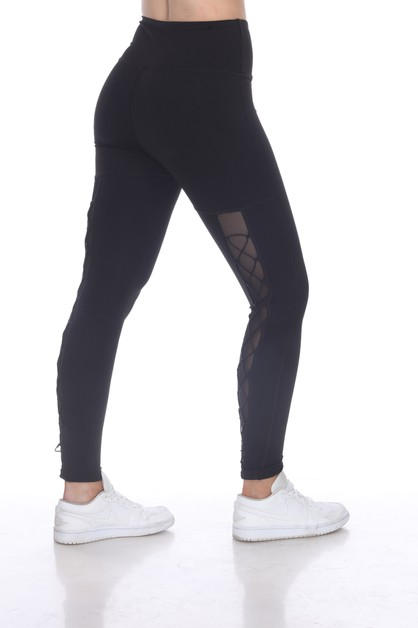 ACTIVE LEGGING WITH BUNGEE CORDLACE  - orangeshine.com