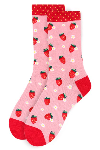Womens Strawberry Novelty Socks - orangeshine.com