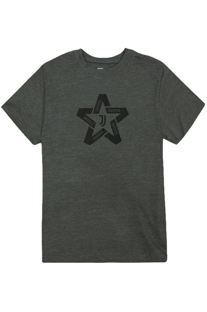 BOYS STAR LOGO CREWNECK T-SHIRT - orangeshine.com