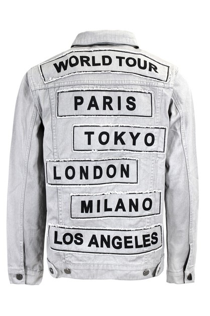 MEN WORLD TOUR COLORED DENIM JACKET - orangeshine.com
