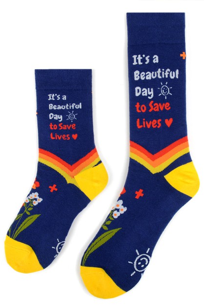 Health Care Heroes -Save Lives- Sock - orangeshine.com