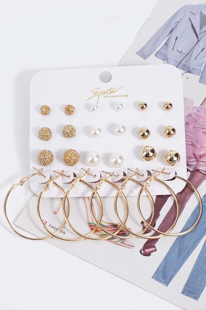 Hoop Earrings Sets - orangeshine.com