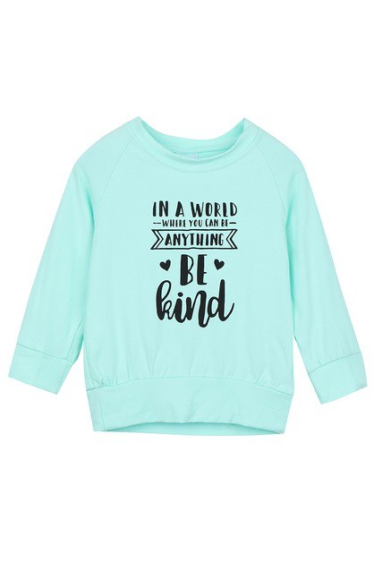 Be kind mint mommy and me shirt - orangeshine.com