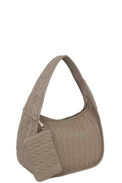 PATTERNED HOBO BAG WITH MATCHING COI - orangeshine.com