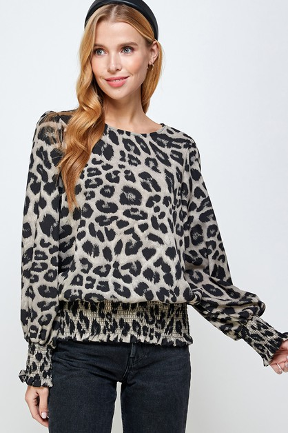 Leopard Print Fashion Top - orangeshine.com