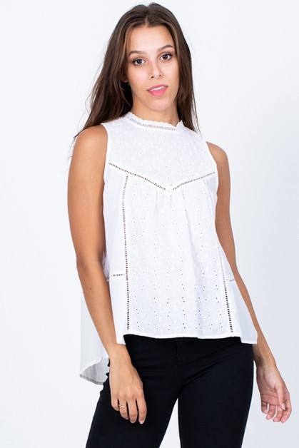 Pretty Hi Low Sleeveless Top - orangeshine.com
