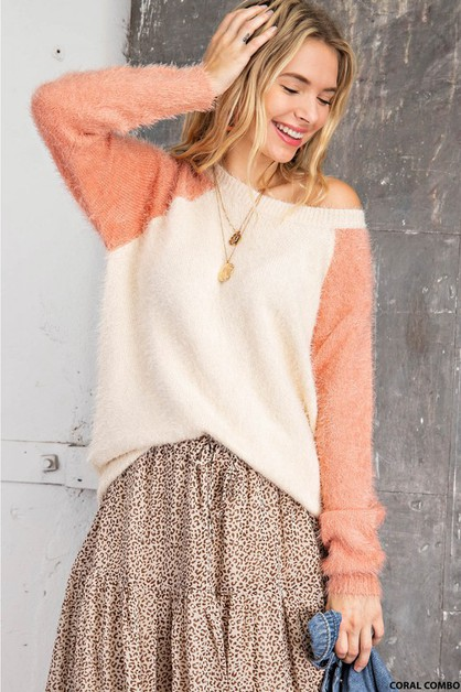 SOFT RAGLAN PULLOER SWEATER - orangeshine.com
