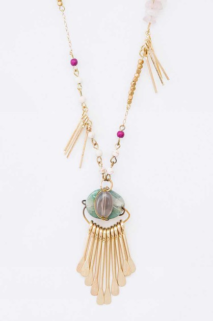 Mix Genuine Stone Iconic Layer Neckl - orangeshine.com