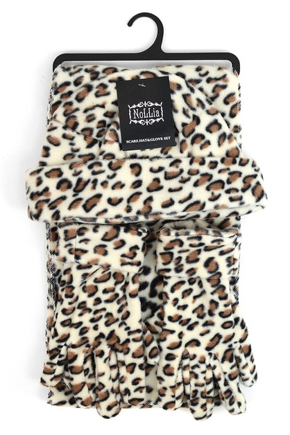 Women Leopard Fleece Winter Set - orangeshine.com