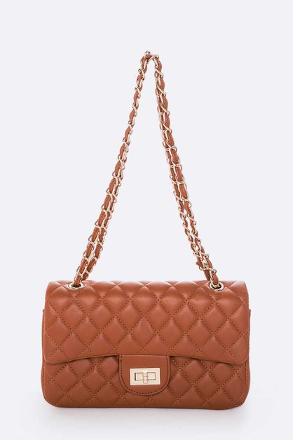 Quilted Classic Turn Lock Shoulder B - orangeshine.com