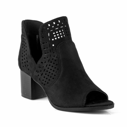 S-61 Women Block Heel Booties - orangeshine.com