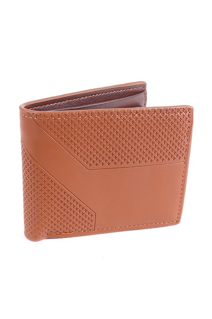 Mens Bi-Fold Brown Leather Wallet - orangeshine.com