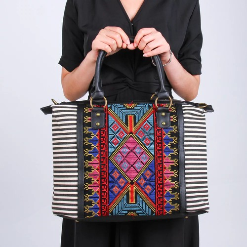 Aztec embroidered handbag purses - orangeshine.com