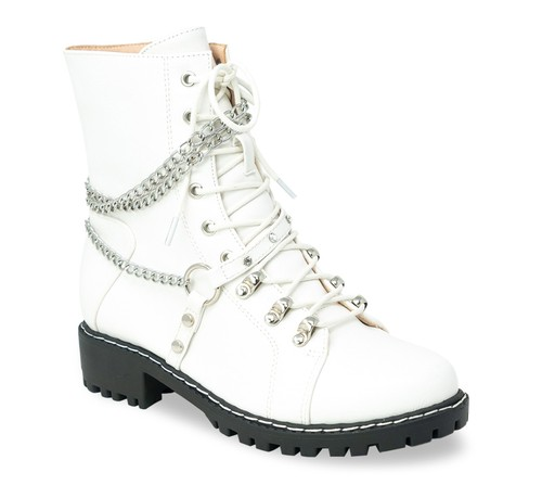 Womens long lace up strap boots - orangeshine.com