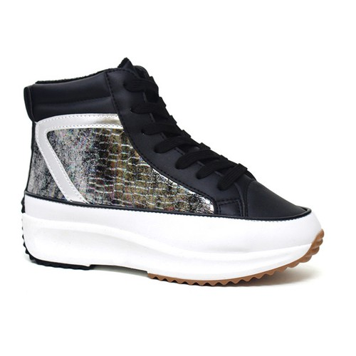 Women Lace Up High Top Sneaker - orangeshine.com