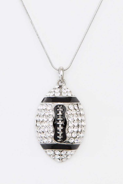 Crystal Football Pendant Necklace - orangeshine.com