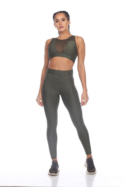 POPCORN TEXTURED ACTIVE SPORTS BRA - orangeshine.com