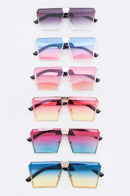 Mix Tint Square Iconic Sunglasses Se - orangeshine.com
