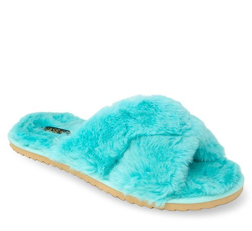 Slides Faux Fur Fuzzy Slippers - orangeshine.com