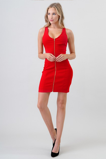 BACK LACE UP BODYCON DRESS - orangeshine.com