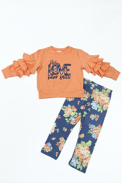 This love never falls top and pants  - orangeshine.com