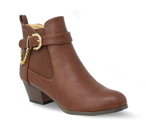 Women Ankle Thick Heel Low Bootie - orangeshine.com