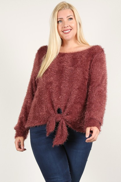 Textured Long SLeeve Top - orangeshine.com