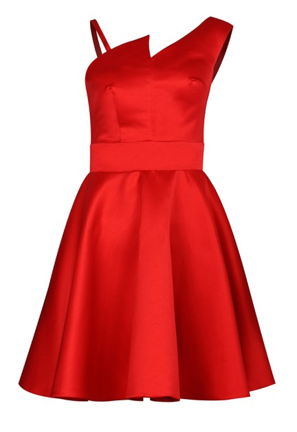 Asymmetric Prom Dress - orangeshine.com