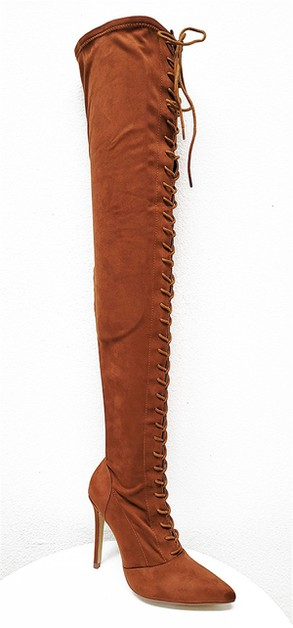 Thigh High Stiletto Heel Boots - orangeshine.com