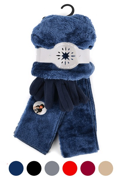 Womens Fur and Fleece Winter Set - orangeshine.com