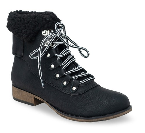 Low Heel Winter Ankle Booties - orangeshine.com
