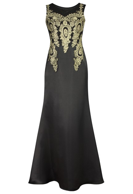 Applique Evening Dress - orangeshine.com