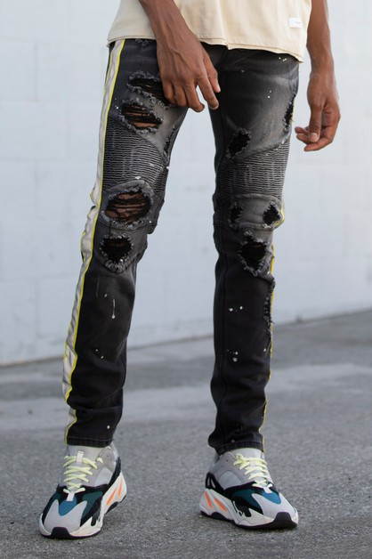 MOTO JEANS W SAFETY TAPE - orangeshine.com