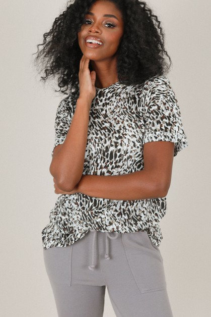 Burnt-out Leopard Tee - orangeshine.com