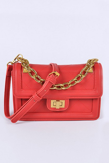 Chunky Chain Iconic Crossbody Bag - orangeshine.com