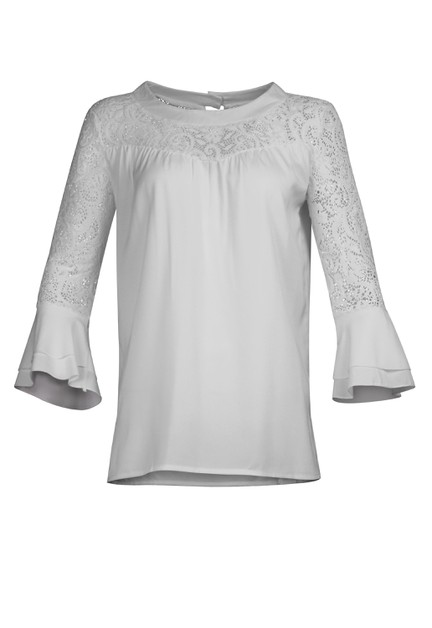 Lace Patch Blouse - orangeshine.com