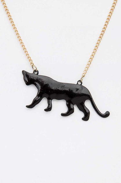 Black Panther Pendant Necklace - orangeshine.com
