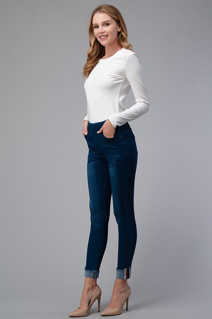 Distresses 5 Pockets classic jegging - orangeshine.com