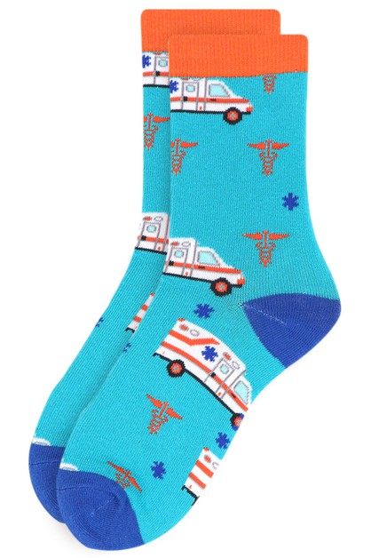 Womens Ambulance Novelty Socks - orangeshine.com
