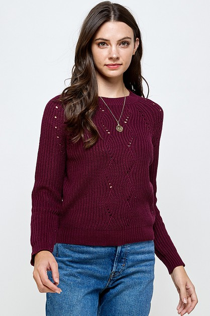 CLASSIC KNIT SWEATER - orangeshine.com
