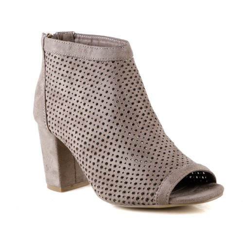 S-62 Women Block Heel Booties - orangeshine.com