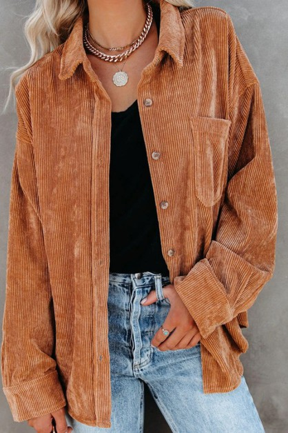 Women Corduroy Shirt - orangeshine.com