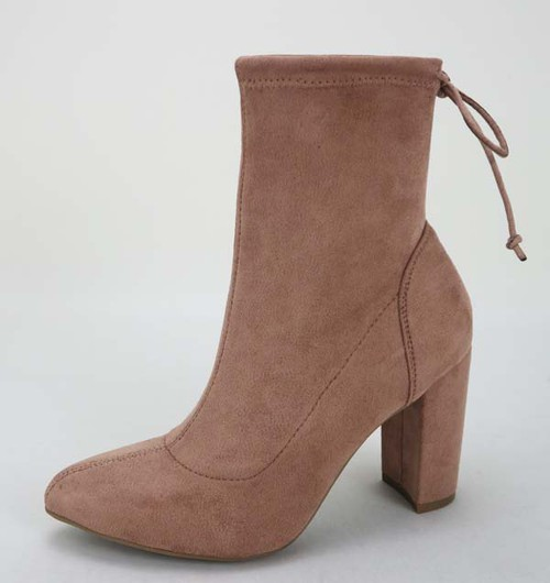 Women High Heel Ankle Bootie - orangeshine.com