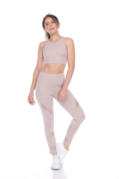 ACTIVE ERGONOMIC MESH INSET LEGGING - orangeshine.com