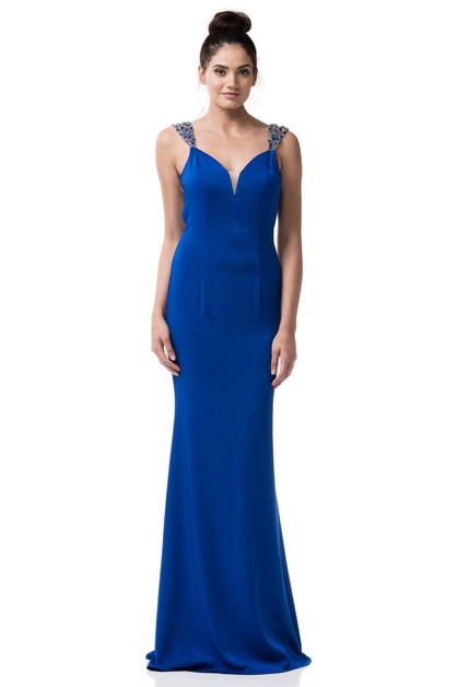 Sleeveless Evening Gown - orangeshine.com