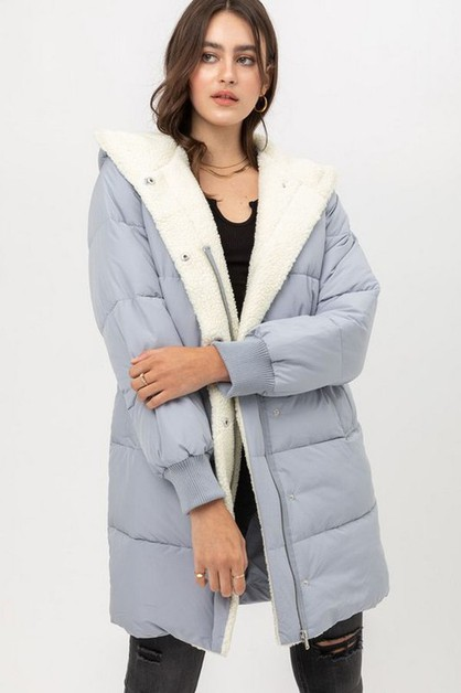 QUILTED POLA COAT - orangeshine.com